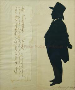 Antique Silhouette by Augustin Edouart of Joseph Warner Philadelphia Quaker - 1393157