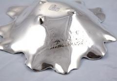 Antique Silver Plate Leaf Form Dish - 252782