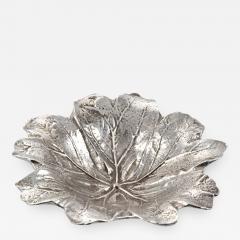 Antique Silver Plate Leaf Form Dish - 253000