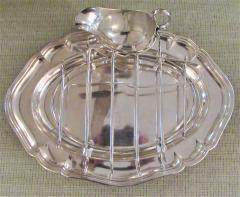 Antique Silver Plated Asparagus Serving Set - 1178639