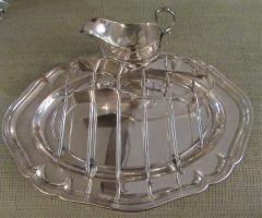 Antique Silver Plated Asparagus Serving Set - 1178641