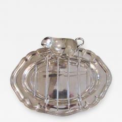 Antique Silver Plated Asparagus Serving Set - 1179734