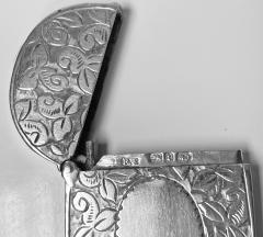 Antique Silver Vesta Birmingham 1893 Rolason Bros - 1925358