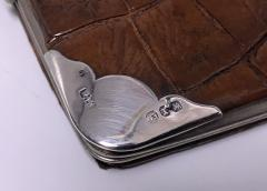 Antique Silver leather wallet purse holder Birmingham 1897 - 1225216