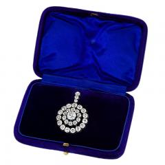 Antique Silver topped Gold and Diamond Pendant - 1059796