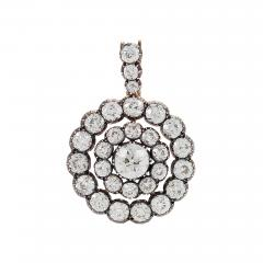 Antique Silver topped Gold and Diamond Pendant - 1059980