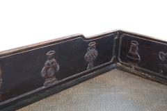Antique Sofa Bed late Ming in carved wood and rattan late 19 th Century - 1563486