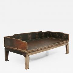 Antique Sofa Bed late Ming in carved wood and rattan late 19 th Century - 1565162