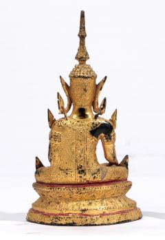 Antique Southeast Asian Gilt Metal Seated Buddha - 2019808