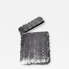 Antique Sterling Silver Card Case Birmingham 1866 Hilliard and Thomason - 1677500