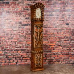 Antique Swedish Allmoge Painted Grandfather Clock - 982371