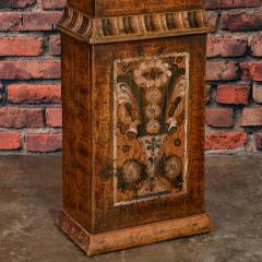 Antique Swedish Allmoge Painted Grandfather Clock - 982373