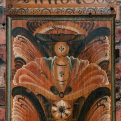 Antique Swedish Allmoge Painted Grandfather Clock - 982375