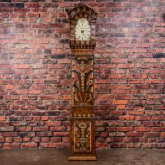 Antique Swedish Allmoge Painted Grandfather Clock - 982377
