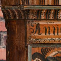 Antique Swedish Allmoge Painted Grandfather Clock - 982379