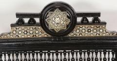 Antique Syrian Moorish Style Black Armchairs - 338404