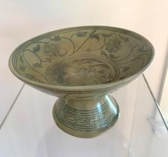 Antique Thai Celadon Stemmed Dish Sukhothai Sawankhalok - 1097273
