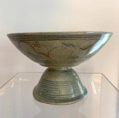 Antique Thai Celadon Stemmed Dish Sukhothai Sawankhalok - 1097276