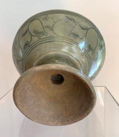 Antique Thai Celadon Stemmed Dish Sukhothai Sawankhalok - 1097278