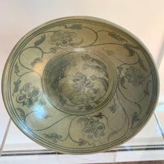 Antique Thai Celadon Stemmed Dish Sukhothai Sawankhalok - 1097279