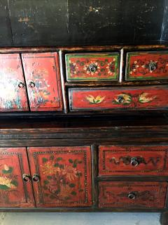 Antique Tibetan Painted Cupboard And Display Cabinet   383061