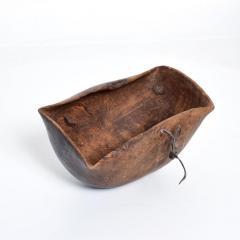 Antique Tribal Art Hand Carved Patinated African Wood Bowl Turkana KENYA - 1984656