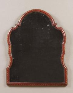 Antique Venetian Red Lacquer Mirror with the original plate and decoration - 1267885