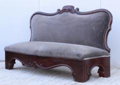 Antique Victorian Armless Loveseat - 1903246