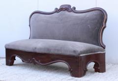 Antique Victorian Armless Loveseat - 1903248