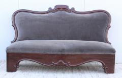 Antique Victorian Armless Loveseat - 1903249