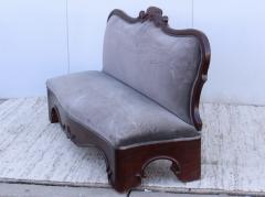 Antique Victorian Armless Loveseat - 1903254