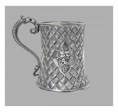 Antique Victorian Silver Mug London 1863 by Robert Harper - 363180