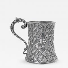 Antique Victorian Silver Mug London 1863 by Robert Harper - 363505