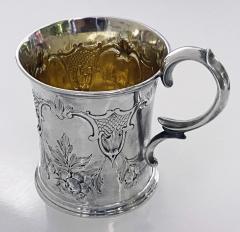 Antique Victorian Silver Mug London 1872 Edward Ker Reid - 2140194