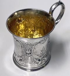 Antique Victorian Silver Mug London 1872 Edward Ker Reid - 2140195