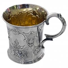 Antique Victorian Silver Mug London 1872 Edward Ker Reid - 2140198