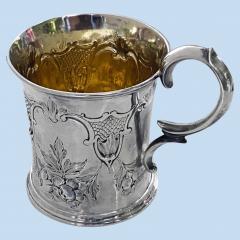 Antique Victorian Silver Mug London 1872 Edward Ker Reid - 2140200