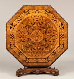 Antique Walnut Marquetry Octagonal Centre Table - 620354