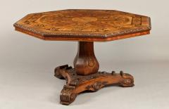 Antique Walnut Marquetry Octagonal Centre Table - 620355