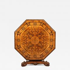 Antique Walnut Marquetry Octagonal Centre Table - 621582