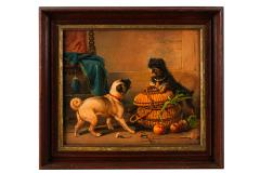 Antique Watercolor Painting of Dogs - 2019813