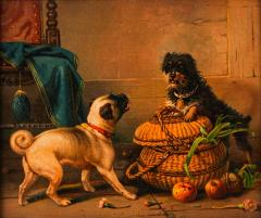 Antique Watercolor Painting of Dogs - 2021365