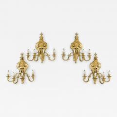 Antique bronze wall lights - 1111266