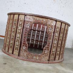 Antique burmese orchestra hsain wain drum percussion circle carved panel table - 1598629