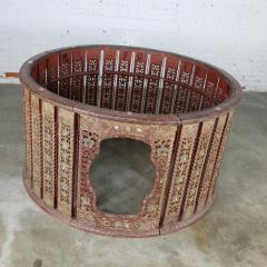 Antique burmese orchestra hsain wain drum percussion circle carved panel table - 1598630