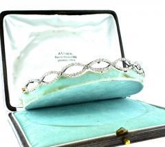 Antique diamond tiara bracelet circa 1890 - 1139496