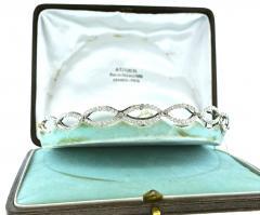 Antique diamond tiara bracelet circa 1890 - 1139497