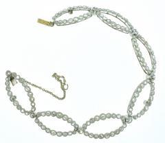 Antique diamond tiara bracelet circa 1890 - 1139513