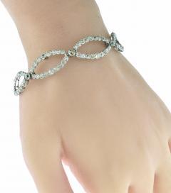 Antique diamond tiara bracelet circa 1890 - 1139517