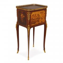 Antique gilt bronze mounted occasional table with marquetry panels - 1683171